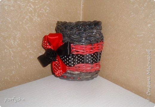 Плетенки из газеты фото 3