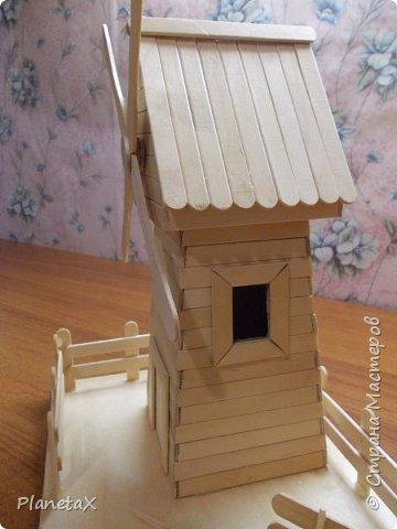 Мельница из палочек для мороженого фото 5