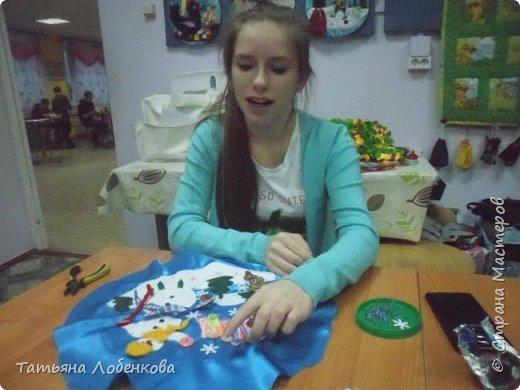 """Развивающий коврик """"Елочка"""" с использованием застежек-пуговиц, липучек. фото 7"""