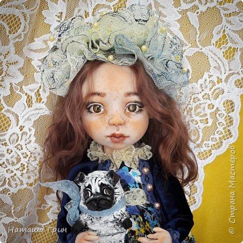 Всем привет! Знакомьтесь эта Анна. Куколка вылеплена в ручную из запекаемого пластика Ливинг долл. Роспись акриловые, масляные краски. Глаза из эпоксидной смолы, внутри расписаны акрилом. Волосы натуральная козочка.  фото 3
