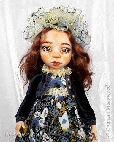 Всем привет! Знакомьтесь эта Анна. Куколка вылеплена в ручную из запекаемого пластика Ливинг долл. Роспись акриловые, масляные краски. Глаза из эпоксидной смолы, внутри расписаны акрилом. Волосы натуральная козочка.  фото 1