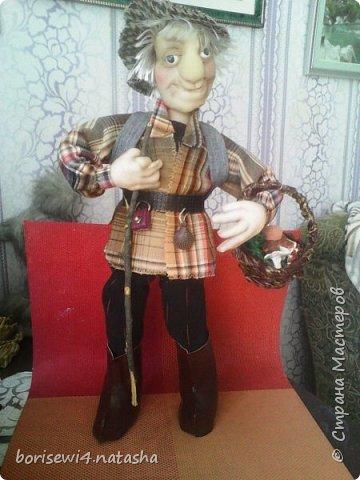 Захотелось пошить куклу из чёрных колготок.Получился вот такой папуасик. фото 2