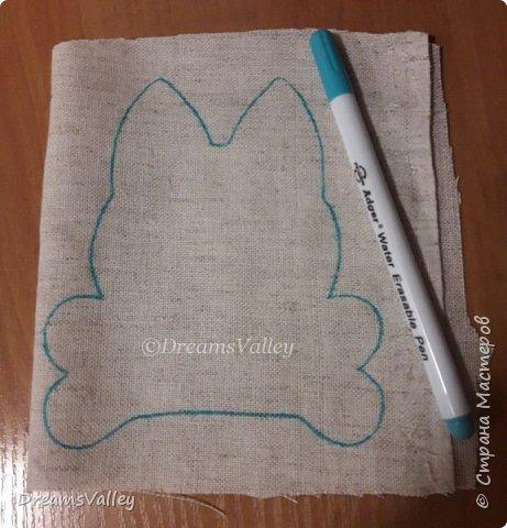 Для работы необходимо:  - бумага для выкройки - ткань лен или хлопок - маркер по ткани или карандаш - булавки - ножницы - клей ПВА - холлофайбер (синтепух) - палочка для набивки - джутовый шпагат - нитки и иголка - акриловые краски (контур по ткани) - бусины - клей - шерсть для валяния - игла для валяния  Для пропитки ткани:  - кофе натуральный 3 ст. л. (можно растворимый, тогда цвет игрушки будет темнее) - корица молотая 2 ст. л. - ванилин 1 пакетик - вода 100 мл фото 3