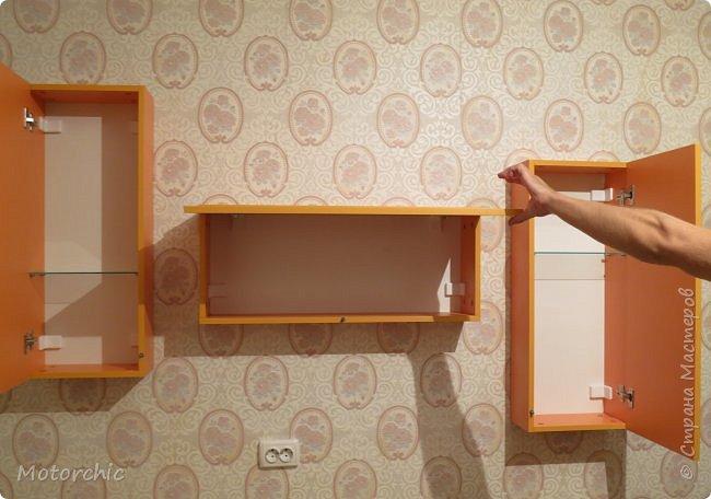 """После длительного перерыва в проектировании мебели я снова взялась за это дело. Новый мебельный проект - комплект """"Оранжевое настроение"""". Кроме непосредственно функции хранения он также обладает """"выставочной площадью"""", на которой можно менять """"экспонаты"""" по настроению. фото 12"""
