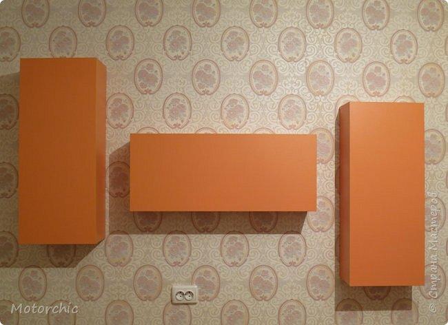 """После длительного перерыва в проектировании мебели я снова взялась за это дело. Новый мебельный проект - комплект """"Оранжевое настроение"""". Кроме непосредственно функции хранения он также обладает """"выставочной площадью"""", на которой можно менять """"экспонаты"""" по настроению. фото 5"""