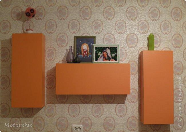 """После длительного перерыва в проектировании мебели я снова взялась за это дело. Новый мебельный проект - комплект """"Оранжевое настроение"""". Кроме непосредственно функции хранения он также обладает """"выставочной площадью"""", на которой можно менять """"экспонаты"""" по настроению. фото 1"""