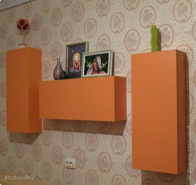 """После длительного перерыва в проектировании мебели я снова взялась за это дело. Новый мебельный проект - комплект """"Оранжевое настроение"""". Кроме непосредственно функции хранения он также обладает """"выставочной площадью"""", на которой можно менять """"экспонаты"""" по настроению. фото 13"""