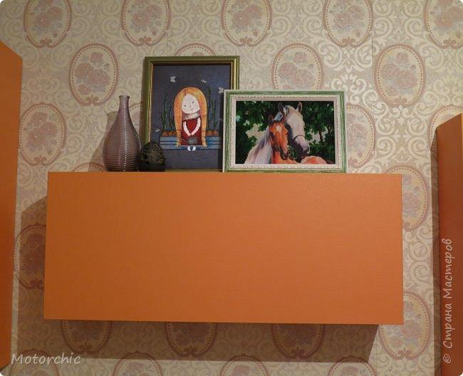 """После длительного перерыва в проектировании мебели я снова взялась за это дело. Новый мебельный проект - комплект """"Оранжевое настроение"""". Кроме непосредственно функции хранения он также обладает """"выставочной площадью"""", на которой можно менять """"экспонаты"""" по настроению. фото 15"""