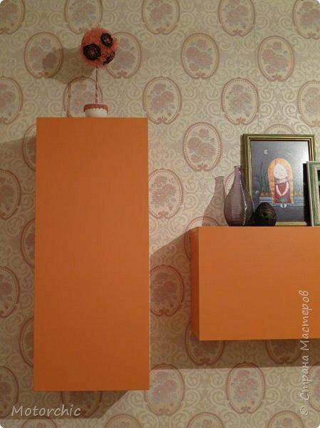 """После длительного перерыва в проектировании мебели я снова взялась за это дело. Новый мебельный проект - комплект """"Оранжевое настроение"""". Кроме непосредственно функции хранения он также обладает """"выставочной площадью"""", на которой можно менять """"экспонаты"""" по настроению. фото 16"""
