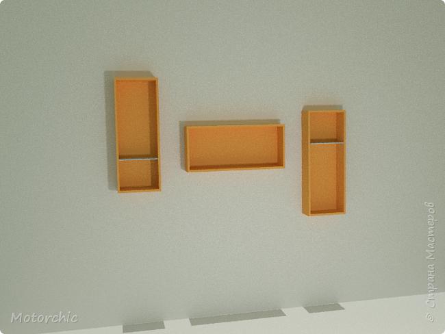 """После длительного перерыва в проектировании мебели я снова взялась за это дело. Новый мебельный проект - комплект """"Оранжевое настроение"""". Кроме непосредственно функции хранения он также обладает """"выставочной площадью"""", на которой можно менять """"экспонаты"""" по настроению. фото 6"""