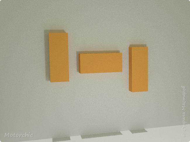 """После длительного перерыва в проектировании мебели я снова взялась за это дело. Новый мебельный проект - комплект """"Оранжевое настроение"""". Кроме непосредственно функции хранения он также обладает """"выставочной площадью"""", на которой можно менять """"экспонаты"""" по настроению. фото 4"""