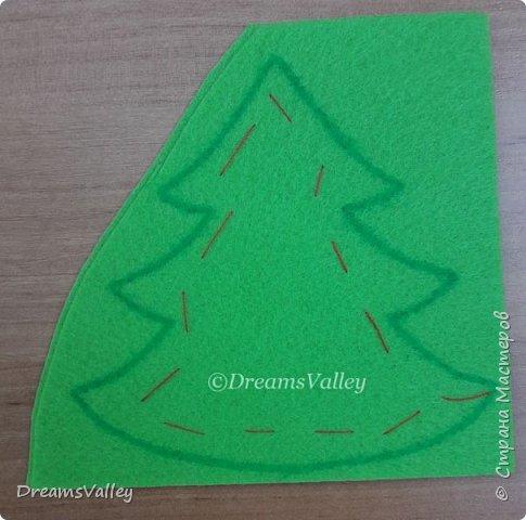 Как Вам такой вариант маленького новогоднего подарочка? Если он пришелся Вам по душе, то, давайте, изготовим его вместе.  Для работы нам понадобится:  - бумага для выкройки - карандаш - фетр - маркер по ткани - нитки и иголка - ножницы - джутовый шпагат (веревочка или лента) - контур по ткани  - скотч - холлофайбер или синтепух - палочка для суши (для набивки) - декор - термопистолет и термоклей  фото 5