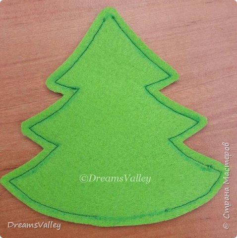 Как Вам такой вариант маленького новогоднего подарочка? Если он пришелся Вам по душе, то, давайте, изготовим его вместе.  Для работы нам понадобится:  - бумага для выкройки - карандаш - фетр - маркер по ткани - нитки и иголка - ножницы - джутовый шпагат (веревочка или лента) - контур по ткани  - скотч - холлофайбер или синтепух - палочка для суши (для набивки) - декор - термопистолет и термоклей  фото 7