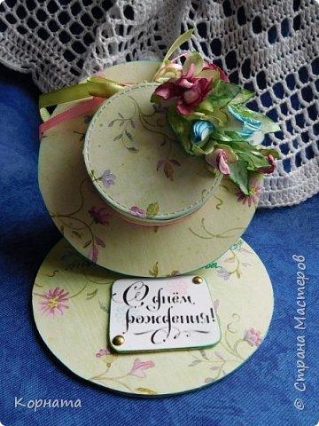 Доброго времени суток, дорогие мастера! Сегодня я с открыточками. Моя любимая форма - женская шляпка. фото 1