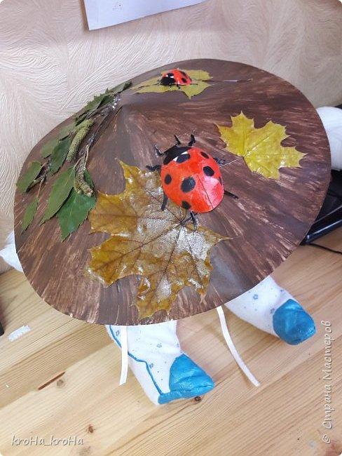 У дочки в саду намечается осенний утренник и как раз для этого события,была сделана эта грибошляпа фото 2