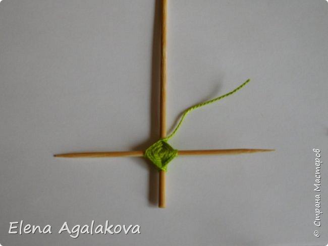 Добрый день! Сегодня я покажу как делать простую мандалу-елочку для украшения на Новый год.  У меня елочка 12 см на 9 см, но вы можете сплести ее любого размера, для малышей конечно лучше размер побольше. фото 9