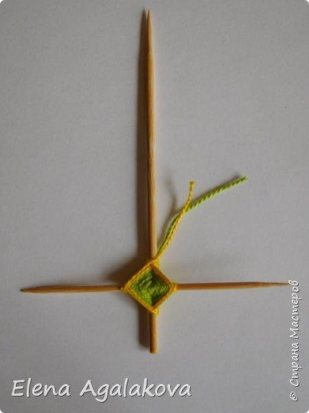 Добрый день! Сегодня я покажу как делать простую мандалу-елочку для украшения на Новый год.  У меня елочка 12 см на 9 см, но вы можете сплести ее любого размера, для малышей конечно лучше размер побольше. фото 10