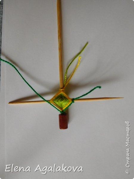 Добрый день! Сегодня я покажу как делать простую мандалу-елочку для украшения на Новый год.  У меня елочка 12 см на 9 см, но вы можете сплести ее любого размера, для малышей конечно лучше размер побольше. фото 11