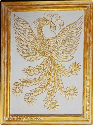 Моей дорогой свекрови 24 октября исполняется 92 года. Решила её порадовать птицей счастья, света , добра и достатка. Использовала свой любимый пластилин. фото 29