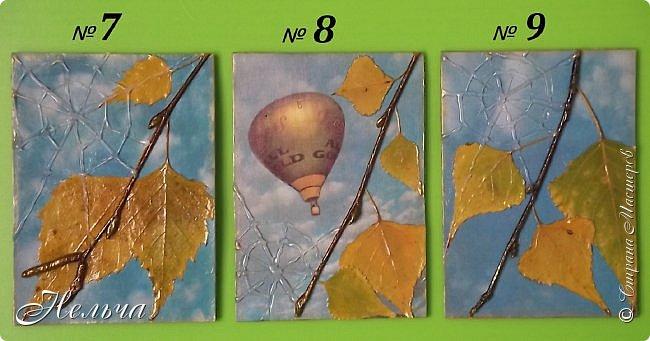 """Серия называется """"Бабье лето"""". Стояли тёплые, солнечные дни и мне захотелось продлить эту чудесную пору. И вот что у меня получилось...  Полетели паутинки,  Осень ставит лету сети.  На траве слезой росинки  Легкой памятью о лете.  ................................... Шелестит листвой дубрава,  Приготовившись раздеться,  Озорных лучей оправа  Не дает тепла для сердца.   Вяжет осень паутинки  Чтоб немножечко согреться,  И ажурные картинки  На травинках, словно дверцы.  (Марина Борина-Малхасян) фото 6"""
