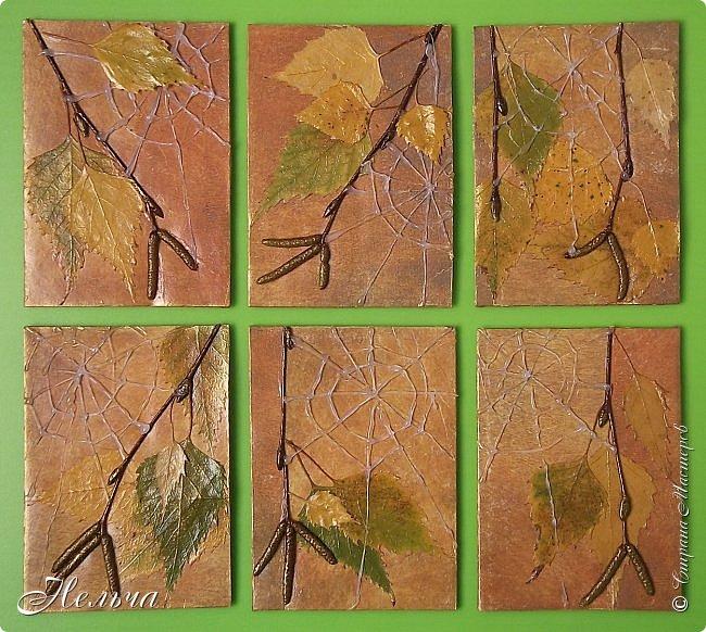 """Серия называется """"Бабье лето"""". Стояли тёплые, солнечные дни и мне захотелось продлить эту чудесную пору. И вот что у меня получилось...  Полетели паутинки,  Осень ставит лету сети.  На траве слезой росинки  Легкой памятью о лете.  ................................... Шелестит листвой дубрава,  Приготовившись раздеться,  Озорных лучей оправа  Не дает тепла для сердца.   Вяжет осень паутинки  Чтоб немножечко согреться,  И ажурные картинки  На травинках, словно дверцы.  (Марина Борина-Малхасян) фото 1"""