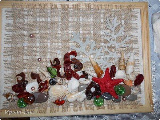 Осень навеяла ))) первое панно из сухих листьев, сухоцветов.  фото 6