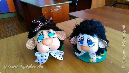 Бяшки-барашки созданы по мастер классу из ютьюба,https://www.youtube.com/watch?v=QXtl4EF2xPE ,получились очень милые и застенчивые. Подснежники еще не доделанные. фото 2