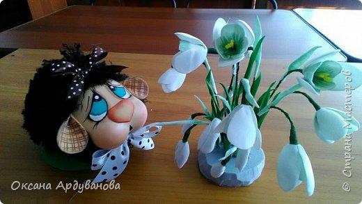 Бяшки-барашки созданы по мастер классу из ютьюба,https://www.youtube.com/watch?v=QXtl4EF2xPE ,получились очень милые и застенчивые. Подснежники еще не доделанные. фото 4
