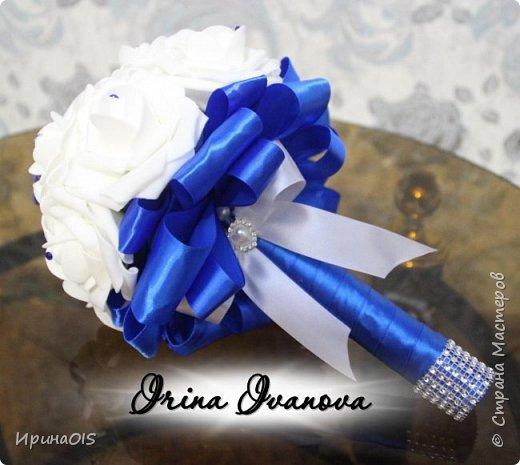 Свадьба в бело-синих тонах фото 4