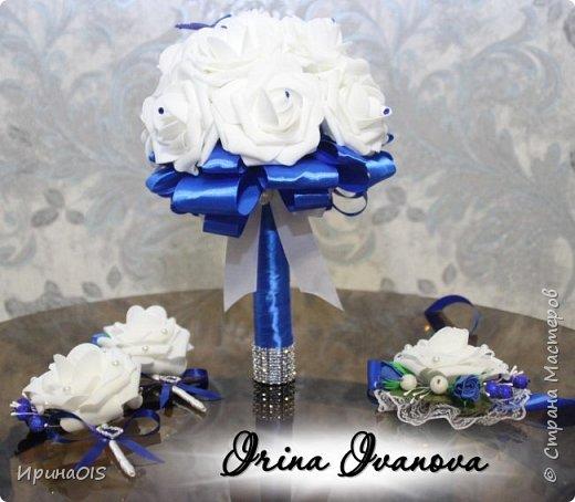Свадьба в бело-синих тонах фото 1