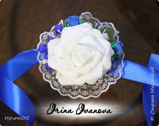 Свадьба в бело-синих тонах фото 2