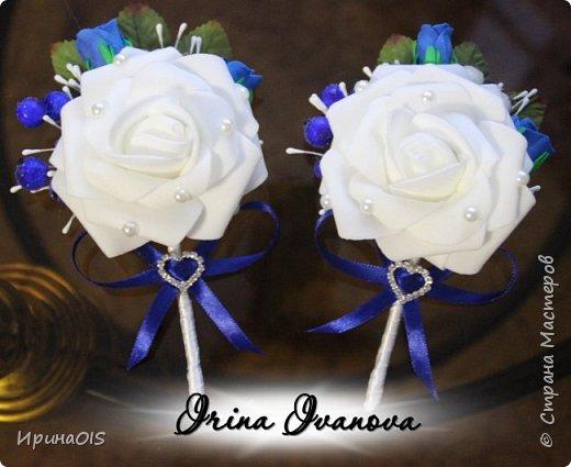 Свадьба в бело-синих тонах фото 3
