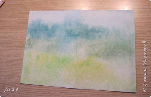 Всем привет!  Сегодня хочу вам показать вторую открытку, которую я сделала для одноклассницы. У неё день рождения 21 октября. Идею увидела интернете. Открытку сделала на А4, альбомный лист для акварельных красок.  фото 13