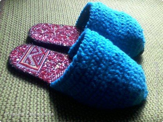 """Тапочки для мамы. Было поставлено условие: """"Чтобы легко надевалось на ногу"""" фото 1"""