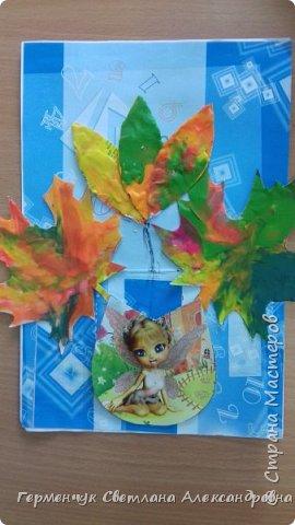 """Вот такие осенние натюрморты сегодня """" нарисовали"""" пластилином  ребята 3 """"А"""" класса. Из плотных  обложек , использованных  тетрадок ,  вырезали заготовки листьев , вазы  и  """"закрасили """" пластилином. Фон - обложки  с наборов  картона. Берегите  все живое !!!  фото 19"""