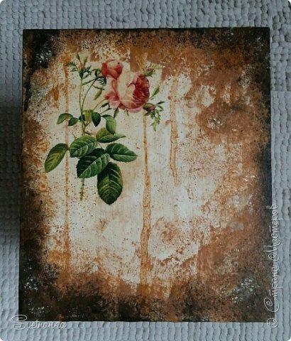 """Комодик из Икеи декупажила салфетками и картинками на рисовой бумаге. Потом подкрашивала """"под старину"""" фото 5"""