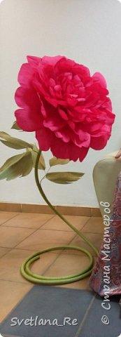 Давно меня привлекают цветы больших размеров, вот решила наваять несколько)) Так сказать, последний привет ушедшему лету))  Думаю, это прекрасное украшение любого торжества...    фото 16
