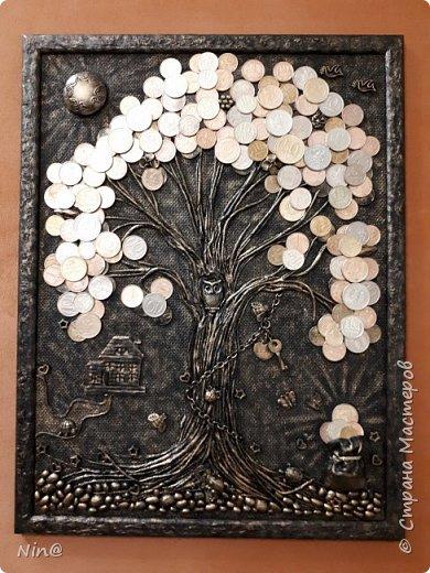 Всем мастерицам и мастерам привет. Понимаю, что здесь, в стране, много замечательных денежных деревьев. Но мне очень нравится их делать! Вот и ещё одно для сотрудницы сотворила. фото 1