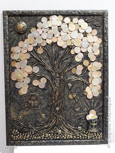 Всем мастерицам и мастерам привет. Понимаю, что здесь, в стране, много замечательных денежных деревьев. Но мне очень нравится их делать! Вот и ещё одно для сотрудницы сотворила. фото 9
