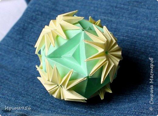 Blutenball Автор - Rocky Jardes МК - http://stranamasterov.ru/node/304673 30 модулей 7,5 х 7,5 см. Размер - около 9 см. фото 20