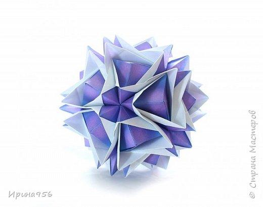Blutenball Автор - Rocky Jardes МК - http://stranamasterov.ru/node/304673 30 модулей 7,5 х 7,5 см. Размер - около 9 см. фото 3