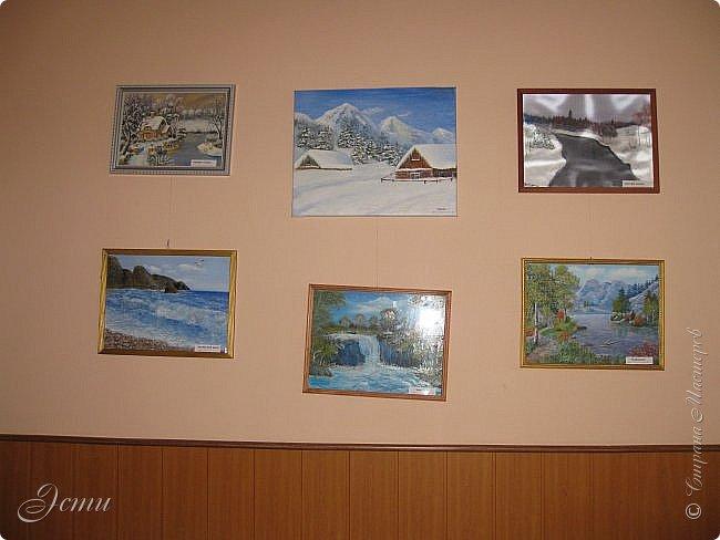 """Товарищи дорогие!!! У меня радостное событие! В клубе """"Огонек"""" проходит выставка моих картин.  Собственно говоря - """"выставка"""" - громко сказано), просто развешены в холле и вдоль лестниц 14 картин.  Приглашаю на виртуальную экскурсию) фото 5"""