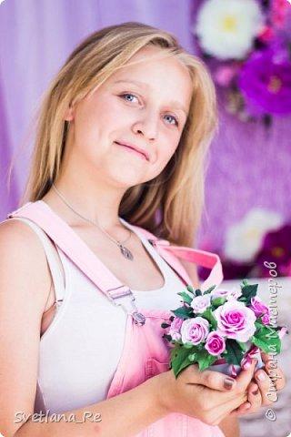 На этом фото ростовые цветы ручной работы создают фон. Платье так же выполнено мной фото 6