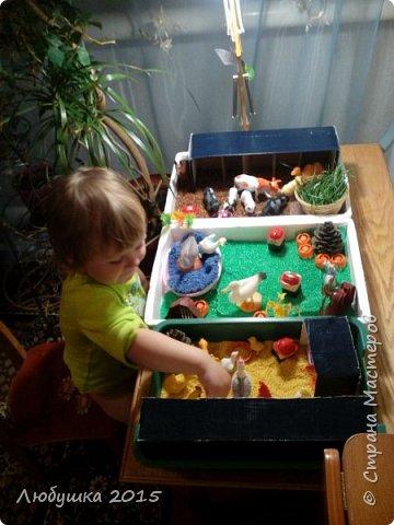Часто нужно занять ребенка, пока делаю домашние дела. Нашла в интернете идею вот такой фермы. фото 5