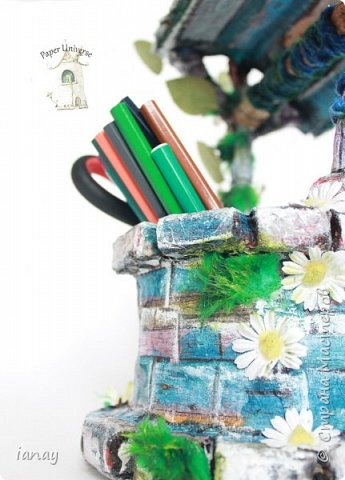 Карандашница в виде колодца. фото 3