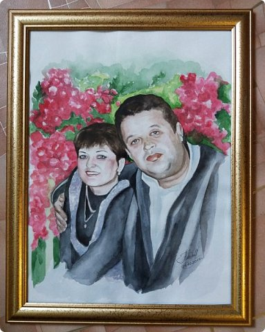 Семейный портрет. Акварель. Формат А3. фото 2