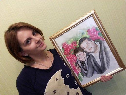 Семейный портрет. Акварель. Формат А3. фото 4