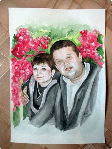 Семейный портрет. Акварель. Формат А3. фото 5