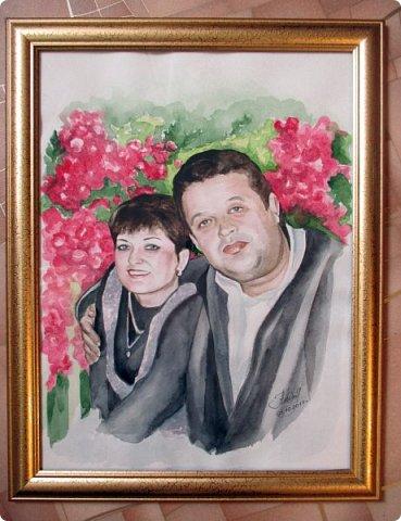 Семейный портрет. Акварель. Формат А3. фото 9