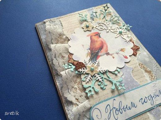 Вы думаете я успокоилась и перестала делать новогодние открытки?! Как бы не так! Обрезки ещё не закончились, а девочки- мастерицы щедро делятся своими замечательными МК. На этот раз моей вдохновительницей стала Лена Поль. ( ссылку дам чуть позже) фото 3